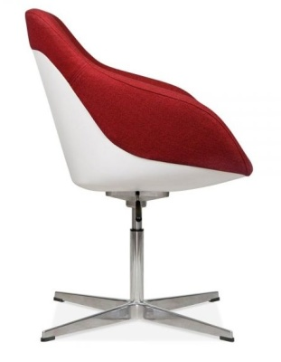 Mexico Lounge Chair Red Fabric Side Shot