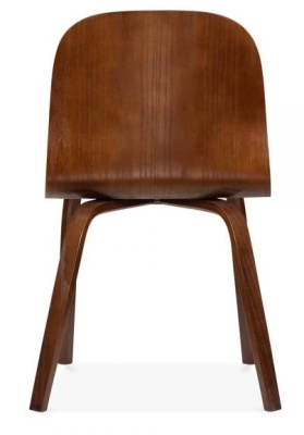 Helsinki Dining Chair In Walnut Rear Shot