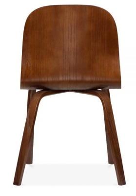 Helsinki Dining Chair In Walnut Rear Shot