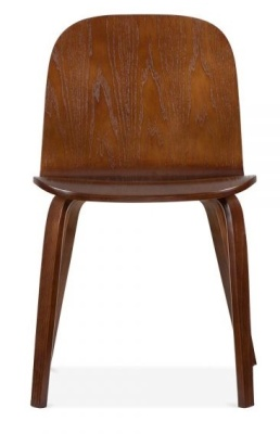 Helsinki Dining Chair In Walnut Front View