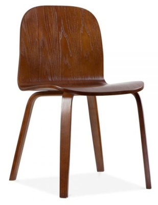 Helsinki Chair In Walnut Front Angle View