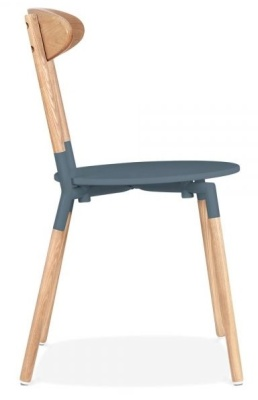 Odense Dining Chair Dark Grey Seat Side View