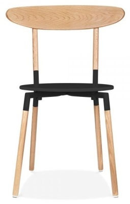 Odense Chair Black Seat Front View