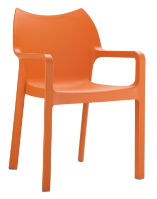 Zodiac Poly Armchair In Orange