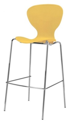 Piazza Poly High Stool Yelow