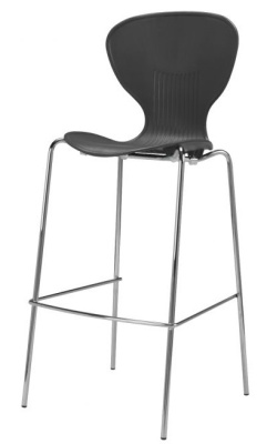 Piazza Poly High Stool Black