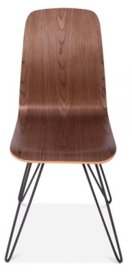Bennie Designer Cafe Chair In Walnut With Hairpin Legs