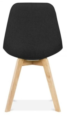 Crosstwon Dining Cahir Black Fabric Rear View
