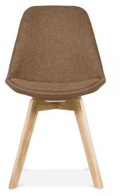 Crosstwon Dining Chair Brown Fabric Front View
