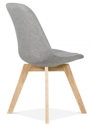 Crosstown Dining Chair Grey Fabric Rear Angle