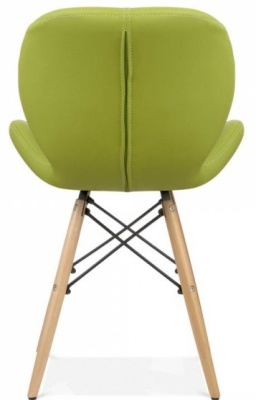 Chaz Dining Chair In Apple Green Rear View
