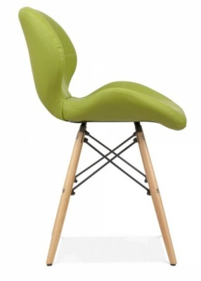 Chaz Dining Chair In Apple Green Side View