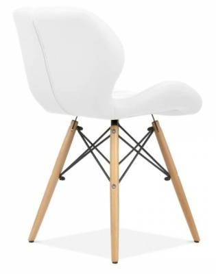 Chaz Dining Chairin White Rear Angle