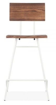 Hairpin Urban High Bstool Front View White Frame