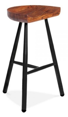 Tyso High Stool Black Frame Front Angle Shot
