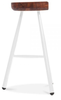 Tyso High Stool White Frame Side View