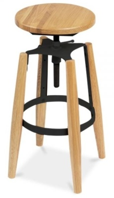 Ruben High Stool Black Fittings