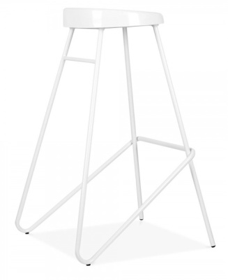 Cadiz High Stool In White
