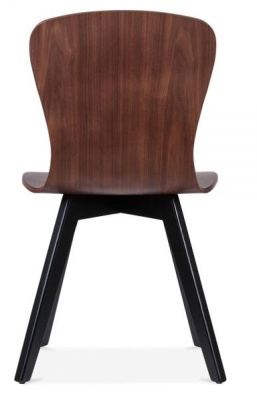 Manhattan Dining Chair Rear View Black Legs