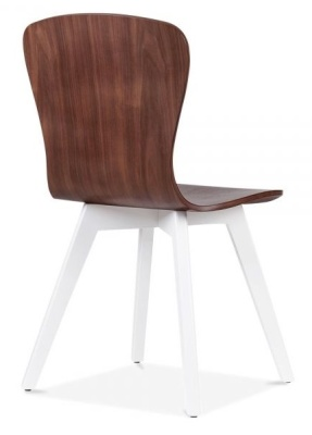 Manhattan Chair Rear Angle White Frame