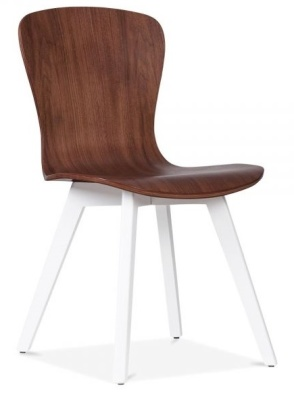 Manhattan Dining Chair Front Angle White Frame