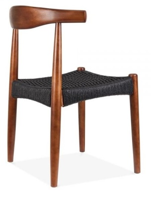 Elbow Chairt With A Black Weave Seat Back Angle