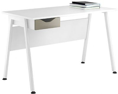 Aspire Reflection Desk With A Stone Drawer Front