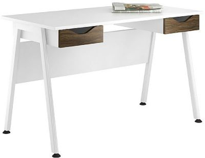 Aspire Refelctions Desk With Dark Olive Drawer Fronts