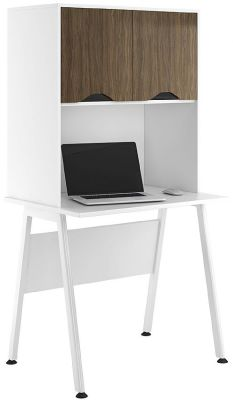 Aspitre Refelctions Desk With Overhead Cupboard With Adrk Olive Doors