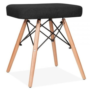 Eames Insired Low Stool Black Fabric Anges Shot