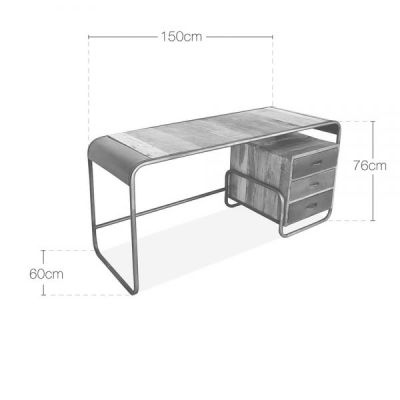 Worksop Industrial Desk Dimensions