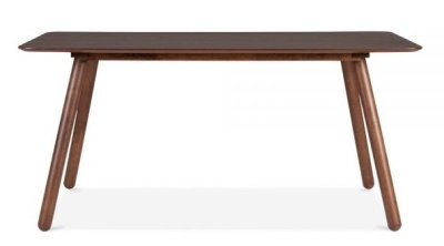 Sydney Rectangular Dining Table In Walnut Front Shot