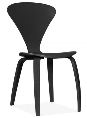 Cherner Chair In Black Front Angle Shot