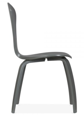 Cherner Chair Dark Grey Side View