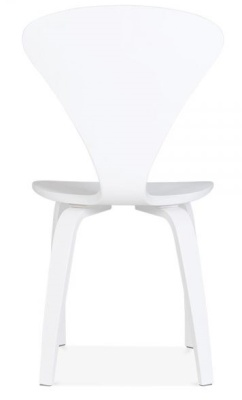 Cherner Chair In White Rear Face