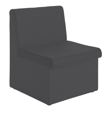 Sequest Modular Chair No Arms Charcoal Fabric