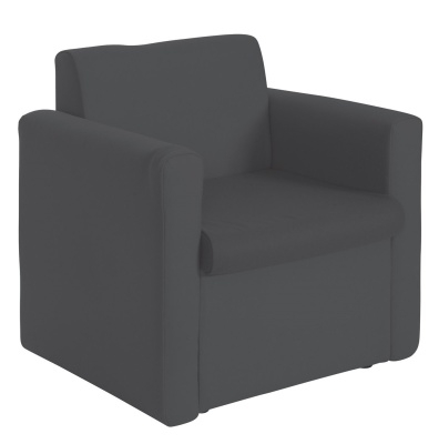 Sequat Chair Two Arms Charcoal Fabric