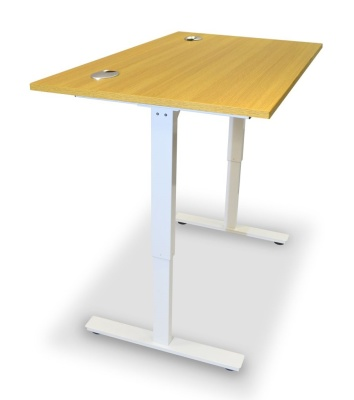 Dynamo Height Adjustable Sit Stand Desk Dide Andle View