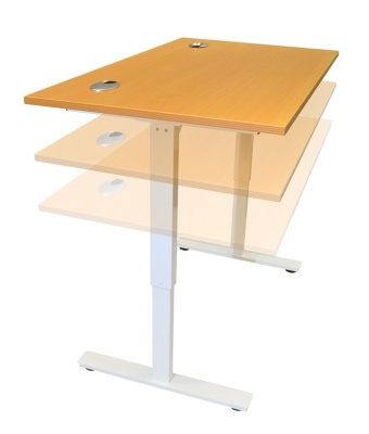 Dynamo Height Adjustable Sit Stand Desk In Motion