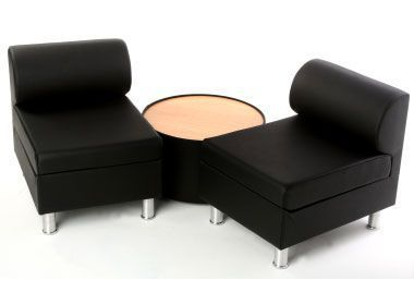 Revolver Low Chairs With Round Coffee Tablle