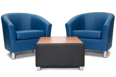Tritium Faux Leather Coffee Table Group