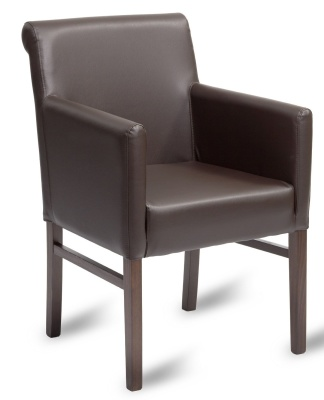 Glencoe Leather Armchair Mocha Leather