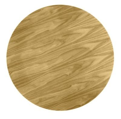 Tulip Table Oak Veneer Top Detail