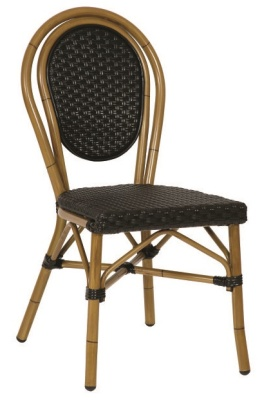 Limoges French Bistro Chair Black PU Weave
