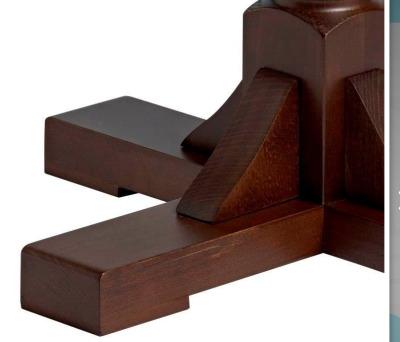 Windsor Wooden Table Base Detail Shot