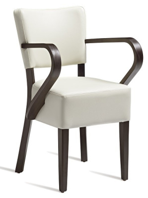 Dijon V2 Cream Faux Leather Dining Armchair