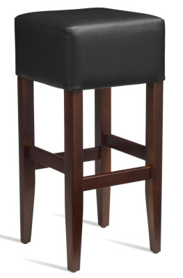 Dijon High Stool Black Leather