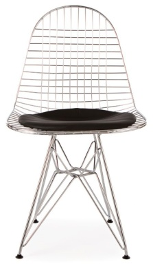 Eames Inspired DKR Chair With A Chrome Frame Front View