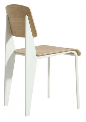 Standard Chair White Frame Rear Angle View