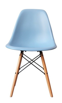 Eames Inspired Childrens Dsw Chair In Blue Front Shot